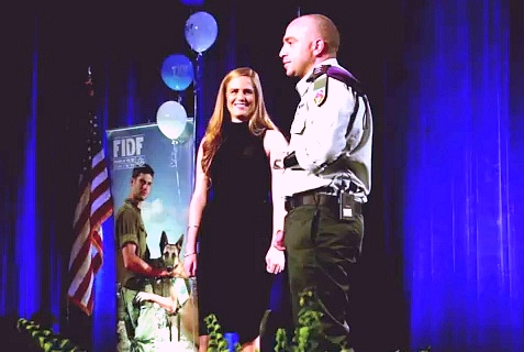 Capt. Ziv Shilon proposed to his girlfriend, Adi Sitbon, at an FIDF Gala, Feb. 27, 2014