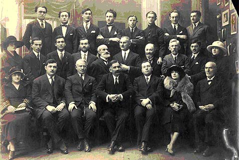 The first meeting of the Romanian Zionist Organization, 1920.