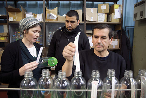Palestinian and Jewish workers at the SodaStream factory in Israel's Mishor Adumim industrial park. SodaStream has come under intense criticism from Boycott, Divestment and Sanctions (BDS) groups opposed to Israeli businesses operating in the West Bank.