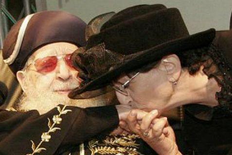 Adina Bar Shalom with her late father, Shas spiritual leader Rabbi Ovadia Yosef.