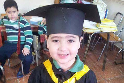 This image appears on several Arabic Facebook accounts and is said to be of the slain 6-year-old Michael.