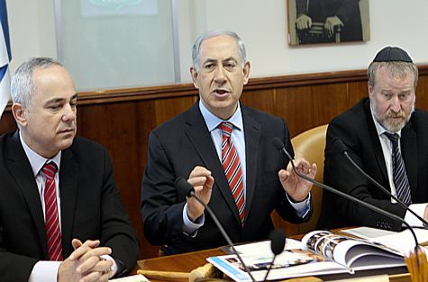 Prime Minister Netanyahu at last week's cabinet meeting.