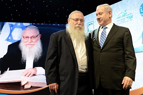 Rav Druckman with PM Netanyahu