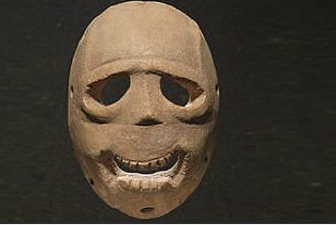 Happy Purim? One of 11 of the oldest masks in the world on display at the Israel Museum in Jerusalem.