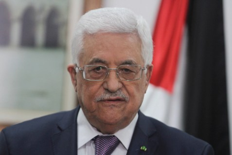PA Chairman Mahmoud Abbas in Ramallah, March 31, 2014