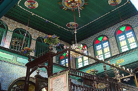 The interior of the El Ghriba synagogue -- the oldest synagogue in North Africa -- on the Tunisian island of Djerba in 2009.