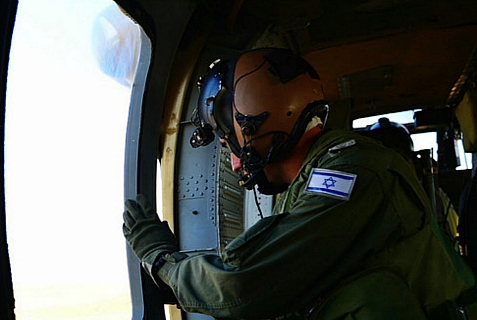 IDF Crew Chief on Elite Helicopter Mission.