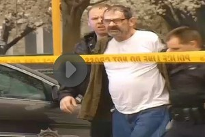 Suspect in shooting at two Kansas Jewish centers which left three dead, April 13, 2014.