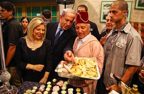 Prime Minister Benjamin Netanyau and his wife Sara attend a Miomuna celebration in Or Akiva.