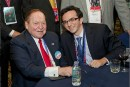 The author, Josh Nass, and Sheldon Adelson.