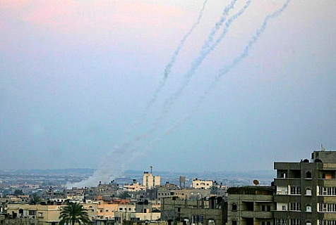 Rockets launched from Gaza at southern Israel. (archive photo)