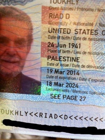 US Palestine Passport