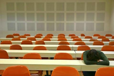 Dejected student