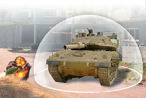 The Trophy System creates a protective dome which shields tanks from anti-tank missiles.