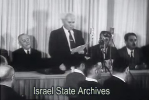 Ben Gurion Reading Declaration of Independence