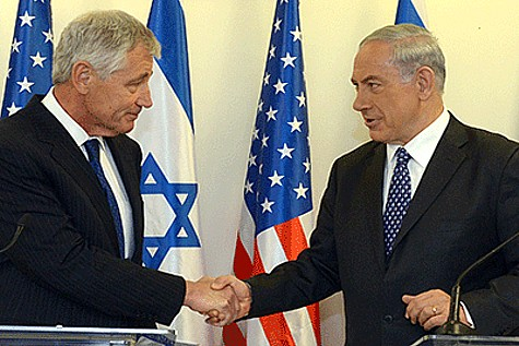 Chuck Hagel and Bibi Netanyahu
