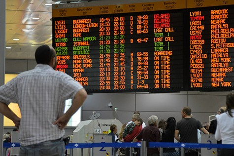 The Flight Schedule Board at Ben Gurion airport.