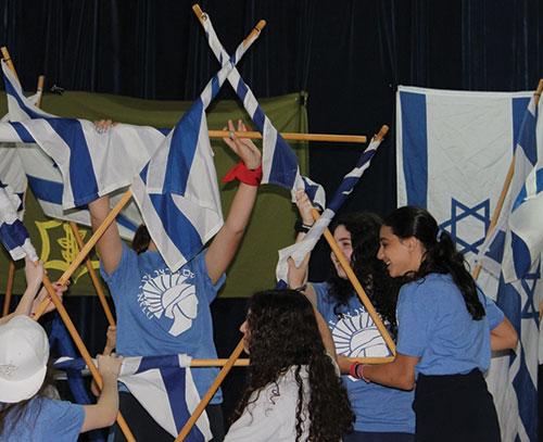 Students perform a festive daglanut routine.