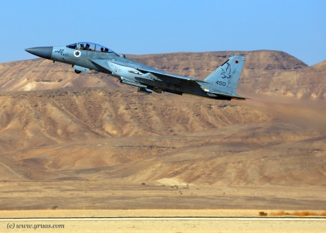 An IAF fighter jet on the way to a mission.