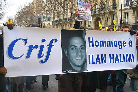 March in memory of the brutally murdered French Jew, Ilan Halimi.