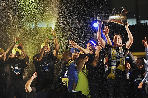 When Maccabi Tel Aviv basketball players beat the Real Madrid team in the Euroleague Finals in May 2014, Rabin Square celebrated in style.