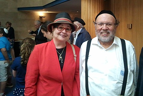 Rebbanit and Rav Bina. Rabbanit Malka Bina was one of the winners of the Bonei Tzion Award.