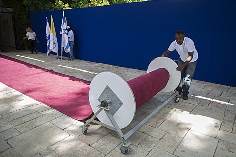Rolling out the Red Carpet for the Pope's visit to Israel.