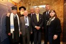 Chief Cantor of Bucharest Jewish Community Yosef Adler, Chief Rabbi of Romania Rafael Sheffer, Ben Helfgott, Chaim Chesler, Herman Cahn- childhood friend of Elie Wiesel, Ovidiu Nemes, and Elisabeta Ungurianu.