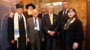 Chief Cantor of Bucharest Jewish Community Yosef Adler, Chief Rabbi of Romania Rafael Sheffer, Ben Helfgott, Chaim Chesler, Herman Cahn- childhood friend of Elie Wiesel, Ovidiu Nemes, and Elisabeta Ungurianu.