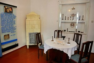 Dining area in Elie Wiesel's childhood home in Sighet, Romania, now part of a Holocaust Education Center.