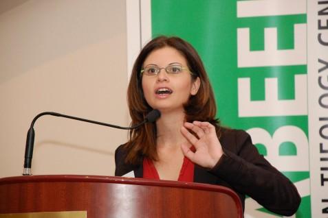 Palestinian spokeswoman Abir Kopty, a native of the Israeli-Arab city of Nazareth