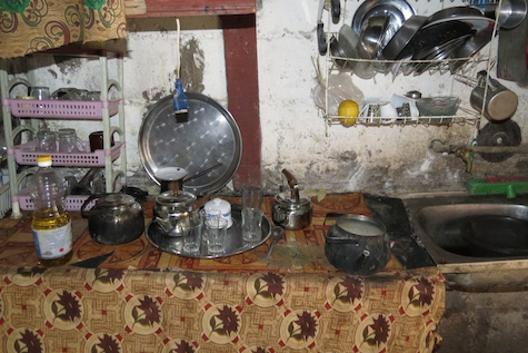 Kitchen in Palestinian refugee camp, Jordan