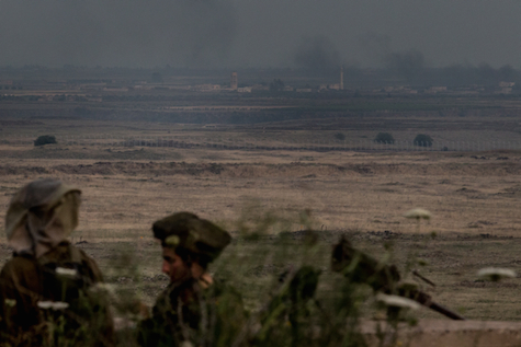 IDF troops train on Syrian border, May 2013