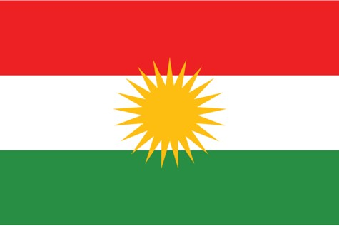 The flag of Iraqi Kurdistan.