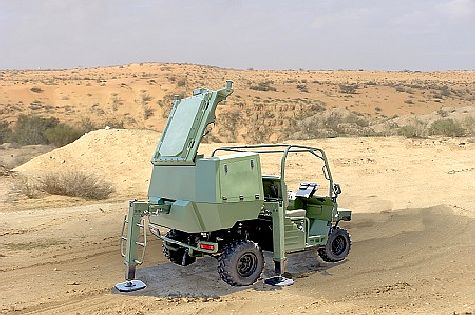 The 'Green Rock' mobile anti-missile defense system produced by IAI's ELTA subsidiary.