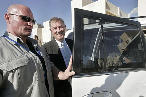 UN Envoy Robert Serry in Khan Younis, Gaza