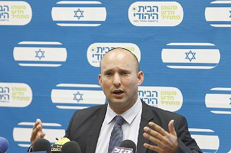 Economy Minister Naftali Bennett, head of the Bayit Yehudi party.