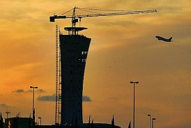 Newly completed control tower at Ben Gurion Airport in Tel Aviv. June 2, 2014