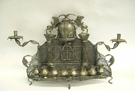 Chanukah lamp, Russia 19th century (2)