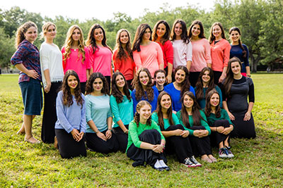Chaya Aydel's 12th 'Bat Mitzvah Year' class of graduates.