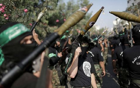 Hamas proudly shows their arsenal, which caused serious and moderate injuries to two Israeli Bedouin girls Monday evening.