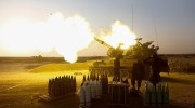 IDF artillery fires on Gazan terrorists.