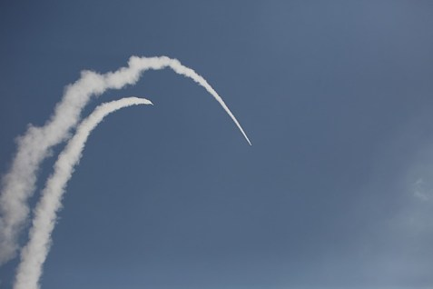 Iron Dome Contrails