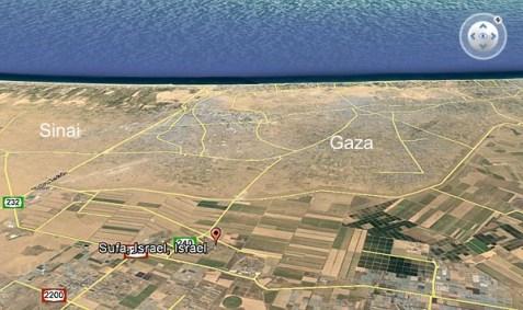 Kibbutz Sufa, near the Gaza border.