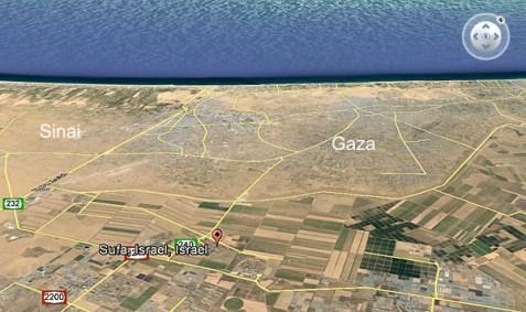 Kibbutz Sufa, near the Gaza border.