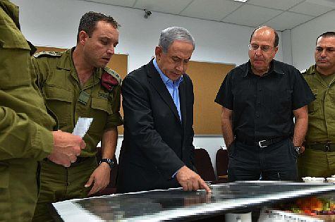 PM Netanyahu and Defense Minister Yaalon.