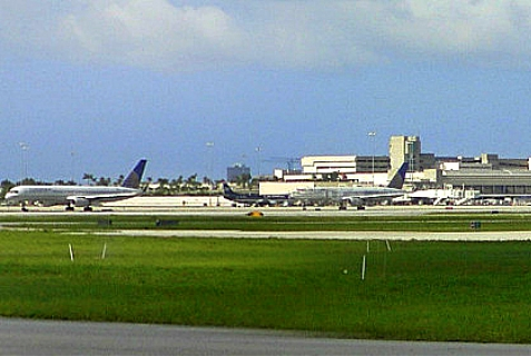 Palm Beach International Airport in Florida was the scene of an alleged anti-Semitic act on July 7, 2014.