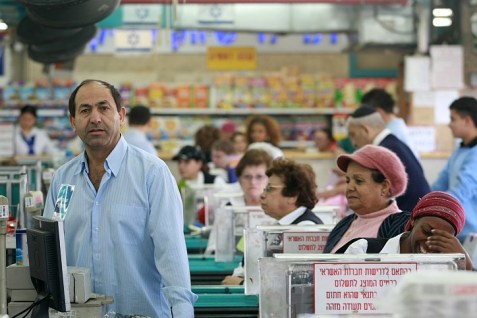 Rami Levy, a consumer-focused retailer, in one of his supermarkets.