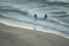 Hamas terrorist try to enter Israel by sea.