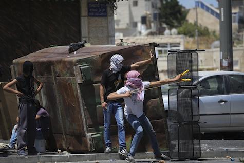 Palestinian violence in Jerusalem.